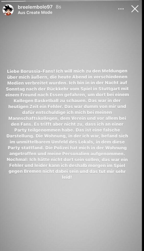 Embolo's message